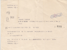 13909- TELEGRAMME, FROM CLUJ NAPOCA TO BUCHAREST, 1982, ROMANIA - Télégraphes