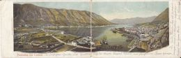 13916- KOTOR- HARBOUR TOWN, PANORAMA, SHIPS, 2 PARTS FOLDED - Montenegro