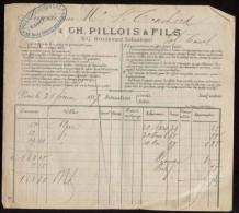 Paris - Ch. Pilloiçs & Fils, Banquiers - 107 Boulevard Sébastopol - 1887 - 1800 – 1899