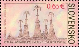 SK 2014-737 100A°I WORLD WAR, SLOVAKIA, 1 X 1v, MNH - Militaria