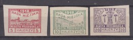 Przedborz, Nr 15C/16C En 18C *, Michel = 36 € (X16553) - ....-1919 Provisional Government