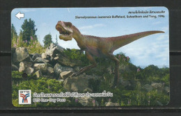 Ticket Simple BTS Metro Aérien De Bangkok.  (dinosaure Siamotyrannus) - Monde