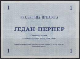 Kingdom Of Montenegro 25.7.1914. 1 Perper Banknote, UNC - Billetes