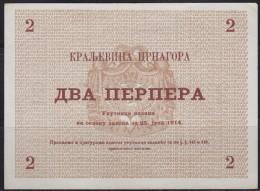 Kingdom Of Montenegro 25.7.1914. 2 Perper Banknote, AU - Billets