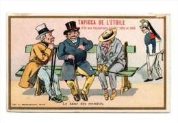 Chromo Imp. Farradesche, Le Banc De Retraités - Trade Cards