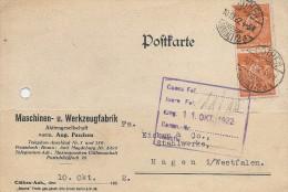 Postkarte   Used 10. 10.  1922.   H-148 - Germany