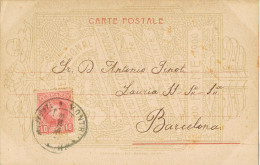 11890. Postal Privada MONTBLANCH (Tarragona) 1905. Roma Palazzo Cesari - 1889-1931 Royaume: Alphonse XIII