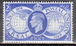 Gran Bretagna, 1949 - 2 1/2p King George VI - Nr.276 MLH* - 1902-1951 (Re)