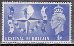 Gran Bretagna, 1949 - 4p Festival Symbol - Nr.291 MLH* - 1902-1951 (Re)
