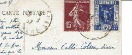 ISIGNY Le BUAT 25 Août 1937 N° 324 + 189 Pour Ménil En Xaintois - CP Vezins Le Barrage De La Sélune - Marcophilie (Lettres)