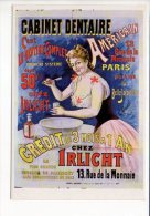 """Santé - Publicité -  Affiche Début 1900 / Cabinet Dentaire Américain """"Chez Irlicht """" - Health"""