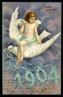 CPA - ANNÉE 1904 - Carte Gaufrée - Embossed - Nouvel An