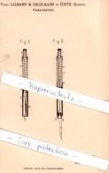 Original Patent - Firma Ullmann & Engelmann In Fürth , Bayern , 1888 , Federhalter !!! - Schrijfgerief
