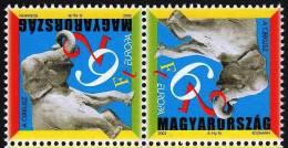 Europa CEPT 2002 HUNGARY Circus Art (tete-beche) - Fine Set MNH - Ungebraucht