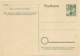 Entier Postal 10 Vert ( Rheinland Pfaltz ) (rheno Palatin) Neuf En Parfait état - French Zone
