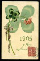 CPA - ANNÉE 1905 - ART NOUVEAU - Carte Gaufrée - Embossed - New Year