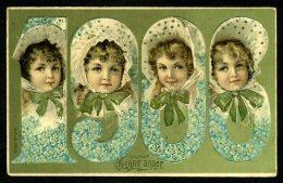 CPA - ANNÉE 1906 - ART NOUVEAU - Carte Gaufrée - Embossed - Neujahr