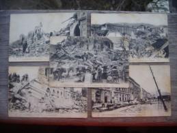La Catastrophe De Messine.  Сinque (5) Carte Di Inviare Un Sacco. - Messina