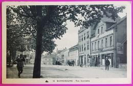 Cpa Sarrebourg Rue Gambetta 1936 Carte Postale 57 Moselle Bureau De Tabac Magasin Cycle Vélo Werle - Sarrebourg
