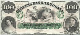 100 $  !!   CITIZENS' BANK OF LOUISIANA  18 - -   UNISSUED REMAINDER   UNC/FdS