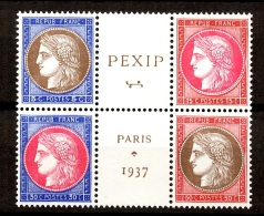 France YT N° 348/351 Neufs ** MNH. Timbres Du Bloc Pexip. Gomme D'origine. TB. A Saisir! - France