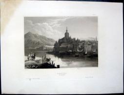 ALBANIA   TURQUIE TURKEY  JANINA  GRAVURES 19° VERS 1840   GRAVEE SUR ACIER  25 X 18 Cm - Estampes & Gravures