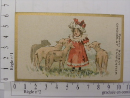 Chromo CHOCOLAT CARPENTIER - Epicerie Robert, Rue Du Commerce, Rue Nationale, TOURS (37) Enfant Mouton - Chocolate