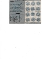 CARTE SYNDICALE 1949 CGT AVEC TIMBRES -ADHERENTE GINETTE LEGRAND -CHANTEUSE LYONNAISE - Autres