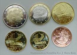 ANDORRA SET 5 10 20 50 CENTIMOS 1 2 EURO NEW 2014 (2015) SC UNC - Andorra