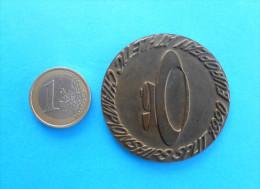 1990. EUROPEAN ATHLETIC CHAMPIONSHIP ( Old Rare Participant Medal ) Athletics Athletisme Atletismo Atletica Athletik - Leichtathletik