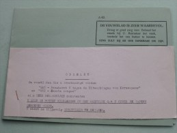 """Vouwbladen """" G46 """" En """" G 62 ( A 62 Zie Foto's ) """" ( Afdeling Opleiding En Training 1959 (?) ) ) ( Zie Foto´s ) ! - Documenten"""
