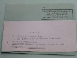 "Vouwbladen "" G46 "" En "" G 62 ( A 62 Zie Foto's ) "" ( Afdeling Opleiding En Training 1959 (?) ) ) ( Zie Foto´s ) ! - Documents"