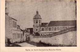 Cpsm  14  Caen , Eglise De Saint-germain Et Rue Descendant Vers La Maladrerie - Caen