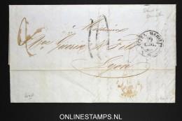 Italy: Letter 1855 Nice, Maritta, To Lyon