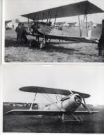 Lot De 2 Photos , Aerodrome Et Avions De Tourisme A Iddentifier..format 15 / 10 - Aviation