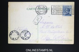 Italy: Postcard 1922  Napoli To New York  With Due 6 Cents Cancel, Excelsior Hotel - 1900-44 Vittorio Emanuele III