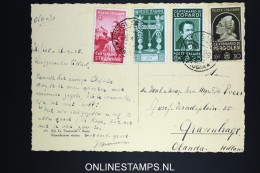 Italy: Postcard 1938 Assisi To The Hague Holland, Mixed Stamps - 1900-44 Vittorio Emanuele III