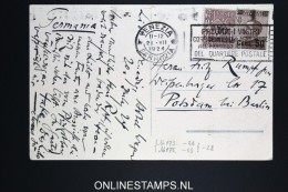 Italy: Postcard 1924  Venezia To Potsdam / Berlin, Mixed Stamps