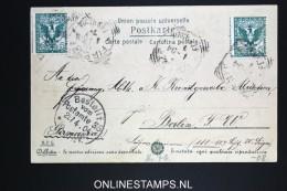 Italy: Postcard 1904  Firenze To Berlin, Bestellt Vom Cancel - 1900-44 Vittorio Emanuele III