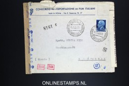 Italy: Cover 1943 Film Italiana To Amsterdam,  Censored - 1900-44 Vittorio Emanuele III