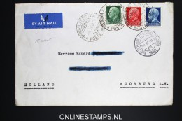Italy: Airmail Cover Genevo Ferrovia To Voorburg Holland, Mixed Stamps - 1900-44 Vittorio Emanuele III