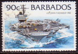 BARBADOS 1996 SG #1085 90c VF Used Ships Imprint 1996 - Barbados (1966-...)