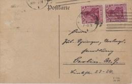Germany; Infla Postcard - Aug. 8, 1922 - Alemania