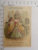 Chromo Chocolat POULAIN - Image Gauffrée - Les Modistes - La Coiffure à La Belle Poule (XVIII è Siècle) - Poulain
