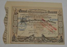 Canal Inteoceanique De Panama, Obligation Nouvelle 3eme Série Marron, 1888 - Navigation