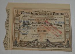 Canal Inteoceanique De Panama, Obligation Nouvelle 3eme Série, Marron, 1888 - Navigation
