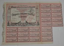 Canal Inteoceanique De Panama, Obligation De 500 Francs 5% Rose, 1883 - Navigation