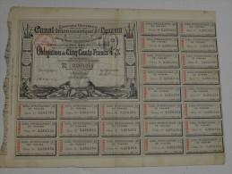 Canal Inteoceanique De Panama, Obligation De 500 Francs 4% Noire, 1884 - Navigation