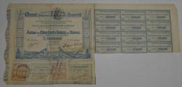 Canal Inteoceanique De Panama, Action De 500 Francs Bleue, 1880, Avec Timbres - Navigation