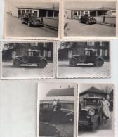 Lot De  6 Petites Photos , Automobiles Anciennes A Iddentifier...voir Scans - Automobiles
